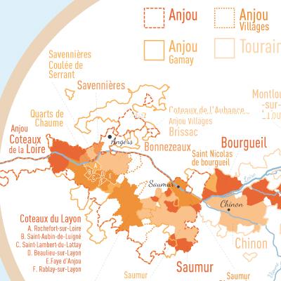 zoom géovitis carte des vins vallée de la loire