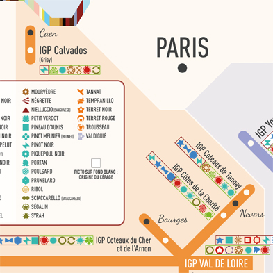 zoom carte des stations IGP cépages PARIS