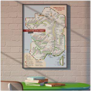 Carte des vins de France stations cépages AOP