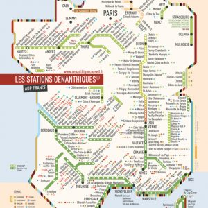 Carte des vins de France stations cépages AOP