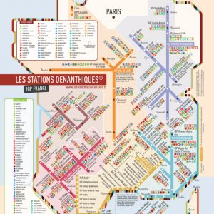 Carte des vins de France stations cépages IGP