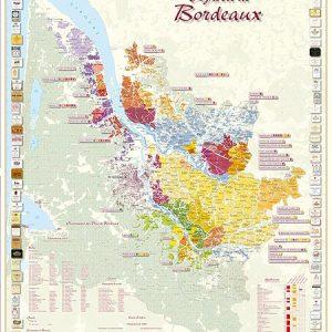 vignoble de bordeaux, carte des vins