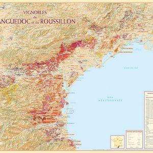Carte des vins du Languedoc-Roussillon
