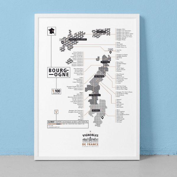 bourgogne, carte des vins