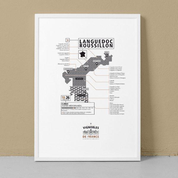 languedoc roussillon, carte des vins