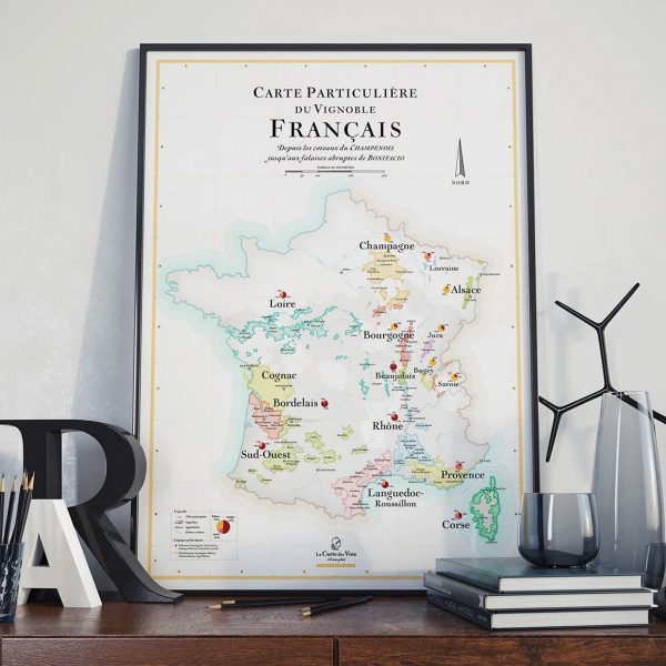 Carte des vins de France, 50x70