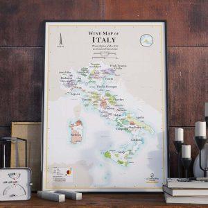 Affiche Vignobles Italie