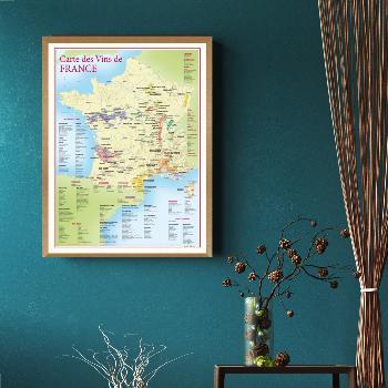 Carte BENOIT FRANCE carte des vins de France 30x40