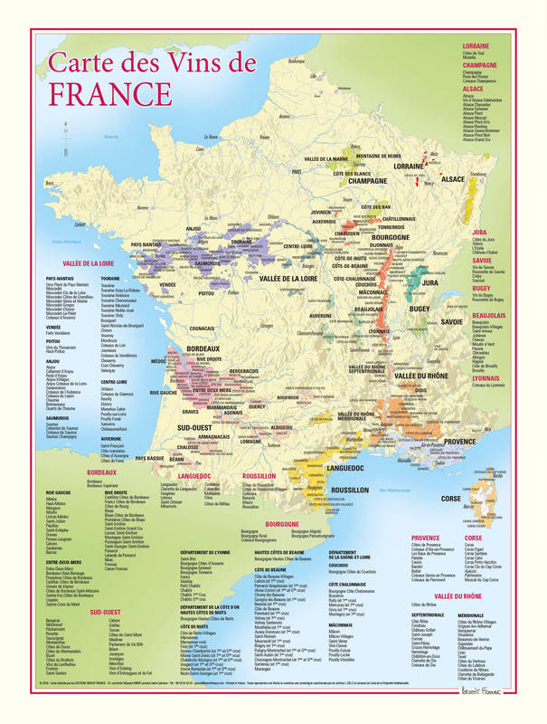 carte des vignobles de france Carte des vins de France / Benoit France