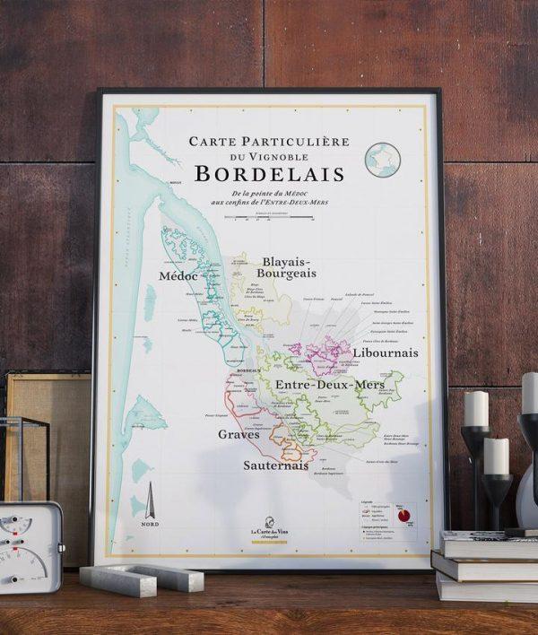 carte des vins de bordeaux, carte de bordeaux