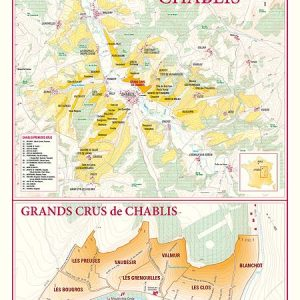 carte des vins de chablis, grands crus de chablis