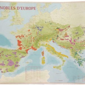 vignobles d'europe, carte des vins d'europe