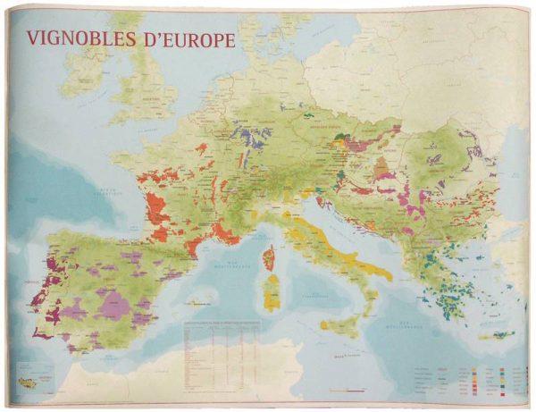 vignobles d'europe, carte des vins d'europe