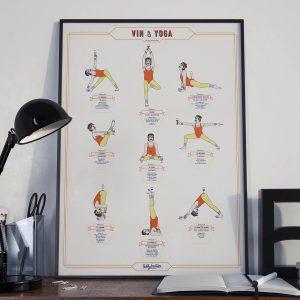 Affiche autour du vin