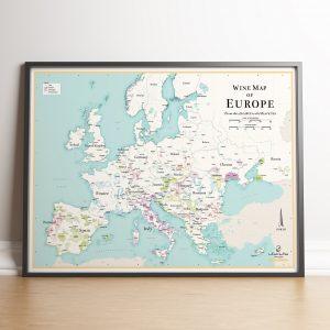 Carte des vins d'Europe et autres Pays