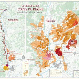 Carte des vins du Rhône