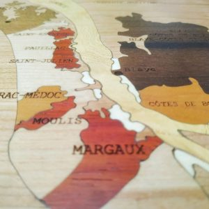 Carte des vins en bois Bordeaux