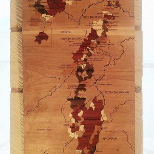Carte des vins en bois Bourgogne