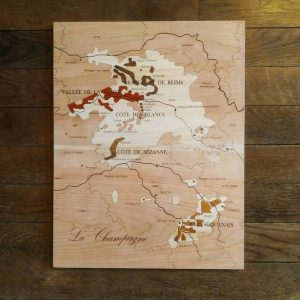 Carte des vins en bois Champagne