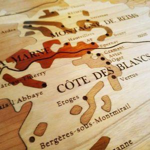 Carte des vins en bois