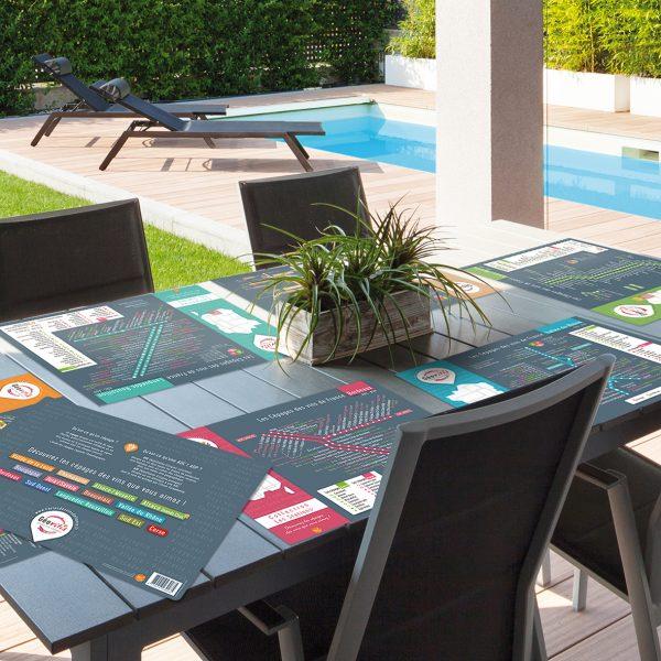 Sets de table Geovitis Les Stations Les Cépages