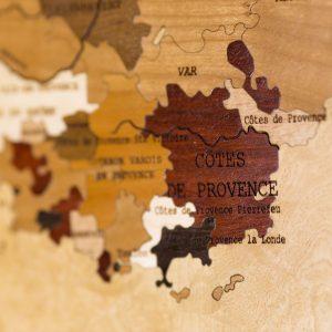 Carte des vins en bois Languedoc Roussillon Provence
