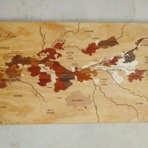 Carte des vins en bois Loire