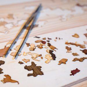 Cartes en bois naturel