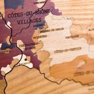 Carte des vins en bois Rhône
