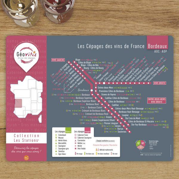 Set de table Geovitis Cépages Bordeaux