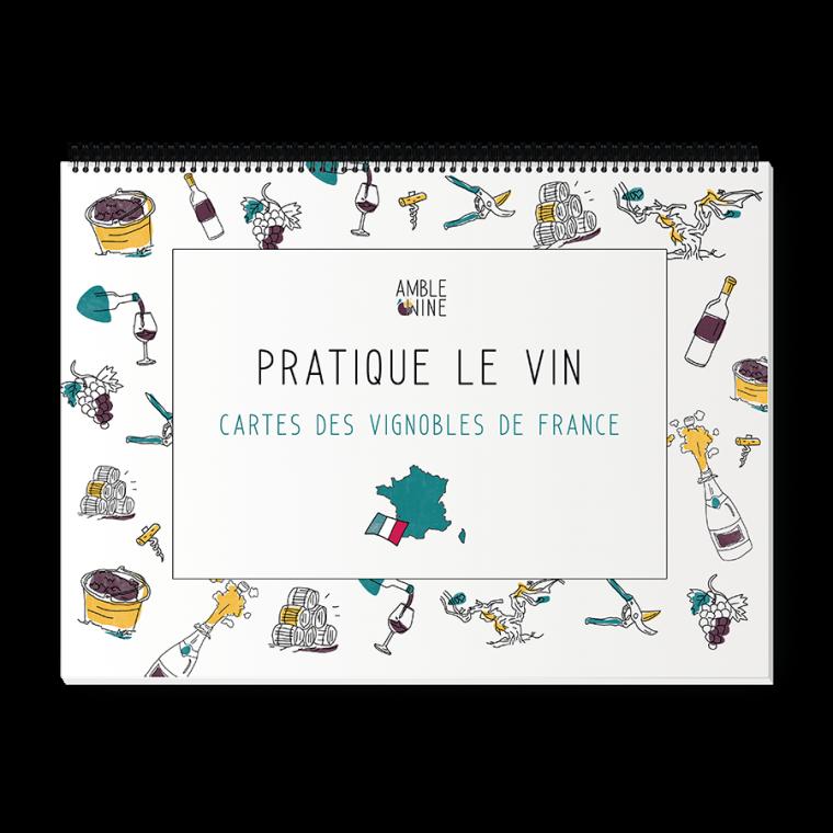 Book Pratique le vin, Cartes des vignobles de France