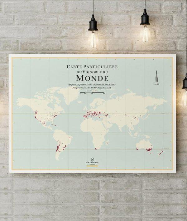 Cartes des vignobles du Monde