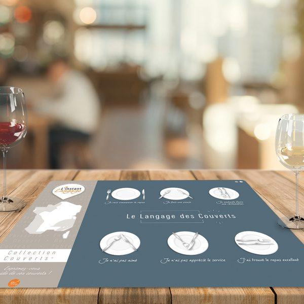 Set de table Le Langage des Couverts - N°1