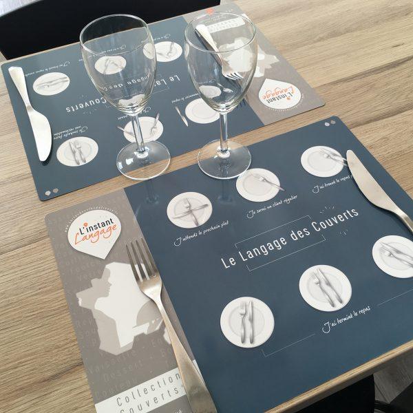 Sets de table Le Langage des Couverts