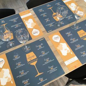 Sets de table Le Langage du Sommelier