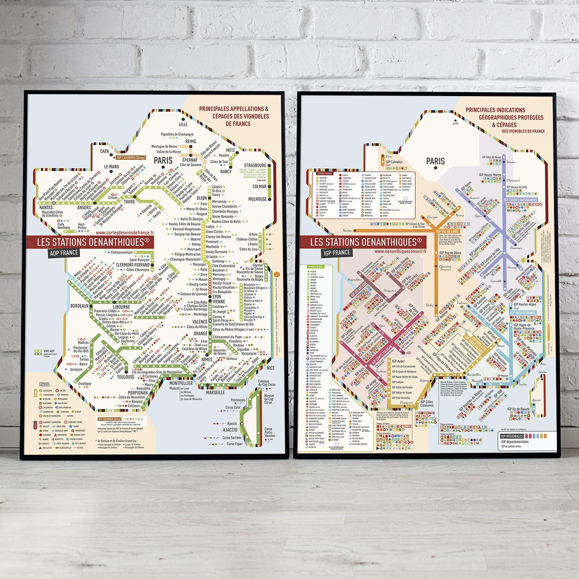 Offre Duo Cartes Les Stations AOP et IGP 40x60