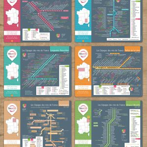 Sets de table Les Stations Geovitis Lot x6