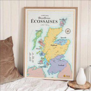 Poster des Distillerie écossaises - Whisky Ecosse 50x70
