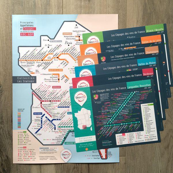 Offre Carte de France LES STATIONS Géovitis + 6 sets LES STATIONS
