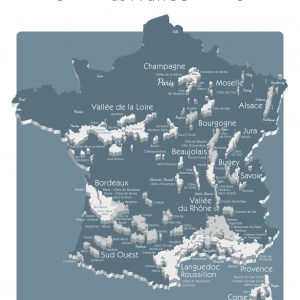 Carte France Vins GEOVITIS DECOUVERTE Surprenante 50x70