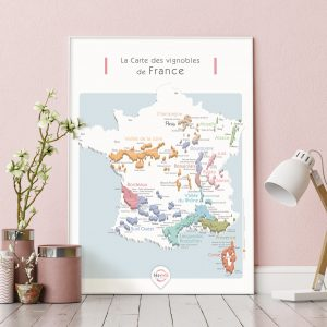 Carte France Vins GEOVITIS DECOUVERTE Apaisante 50x70