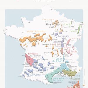 Carte France Vins GEOVITIS DECOUVERTE Apaisante 50x70