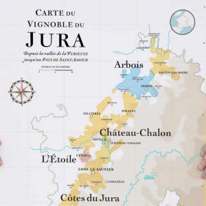 Carte des vins du Jura 50x70 La Carte des Vins SVP