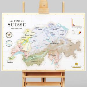 Carte Les Vins de Suisse 70x50 - La Carte des Vins SVP