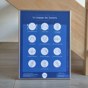 Affiche Le Langage des Couverts L'instant Langage 30x40 Conquérante