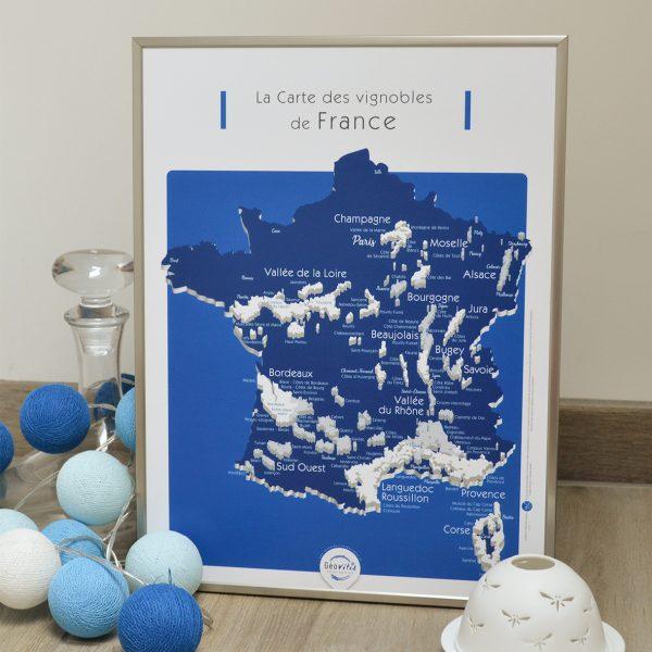 Carte France Vins GEOVITIS DECOUVERTE Conquérante 30x40