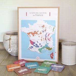 Carte France Vins GEOVITIS DECOUVERTE Pétillante 30x40