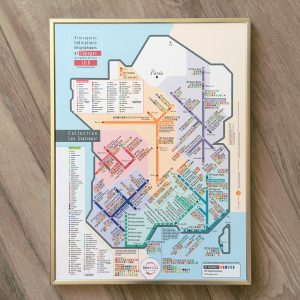Carte de France des vins Les Stations Pétillante Géovitis IGP 30x40