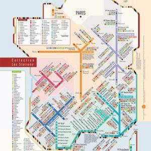 Carte de France des vins Les Stations IGP Originale Géovitis 30x40