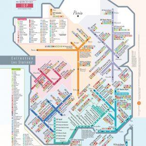 Carte de France des vins Les Stations IGP Pétillante Géovitis 30x40